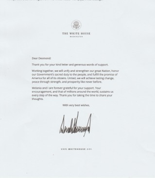 From the White House on Behalf of President Trump. From 10 Downing Street - The silence is deafening.
